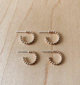 Tumble Tumble   Beaded Hoop Earrings