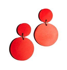 Rover & Kin Rover & Kin   Red Confetti Clay Earrings