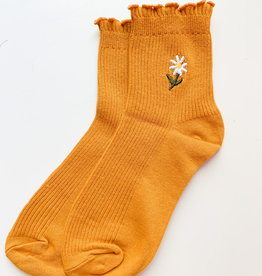 Stay Forever | Floral Frills Sock (Yellow)