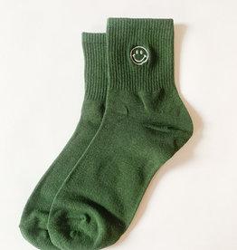 Stay Forever | Smiley Face Socks - Green