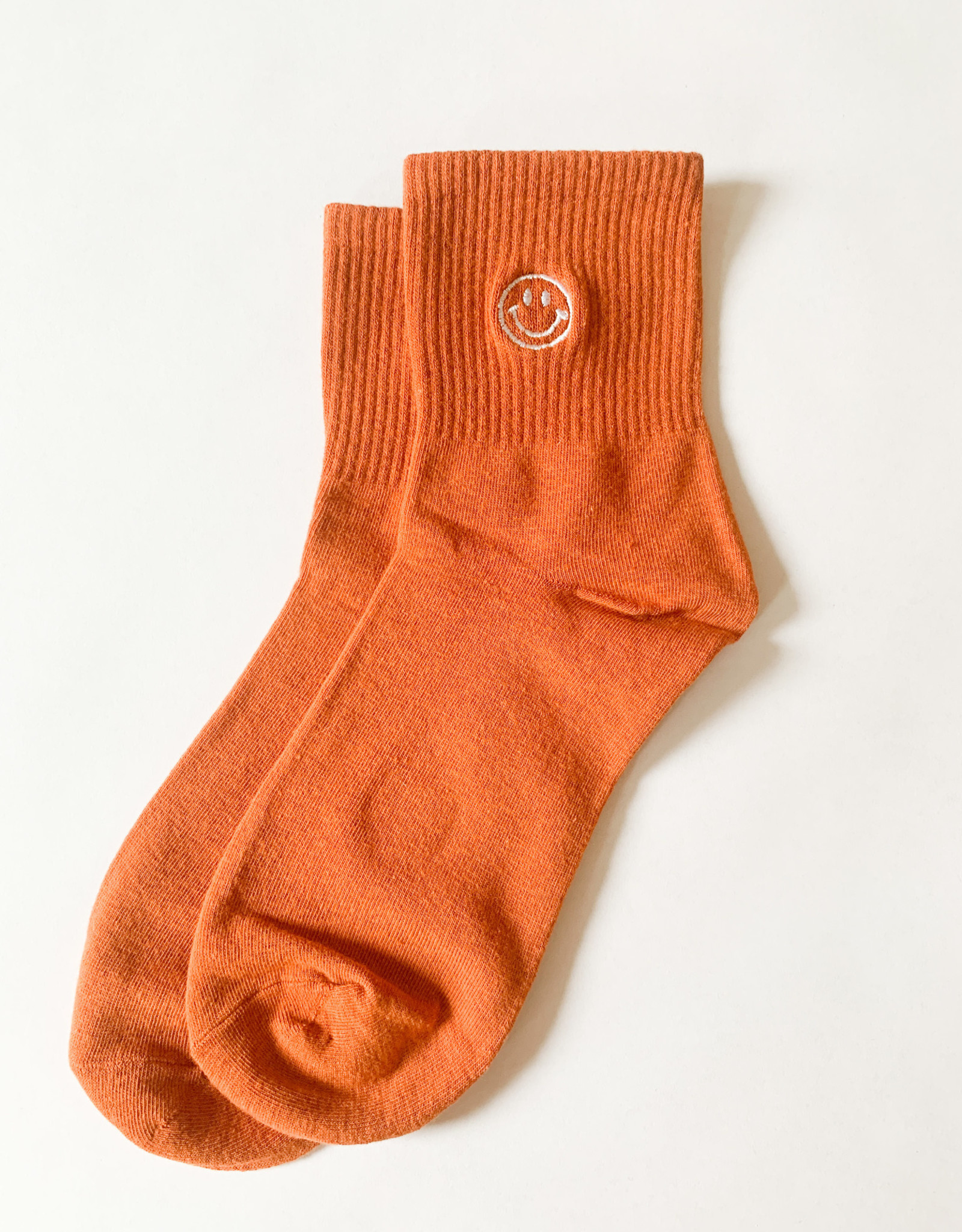Stay Forever | Smiley Face Socks - Persimmon