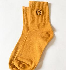 Stay Forever | Smiley Face Socks - Turmeric