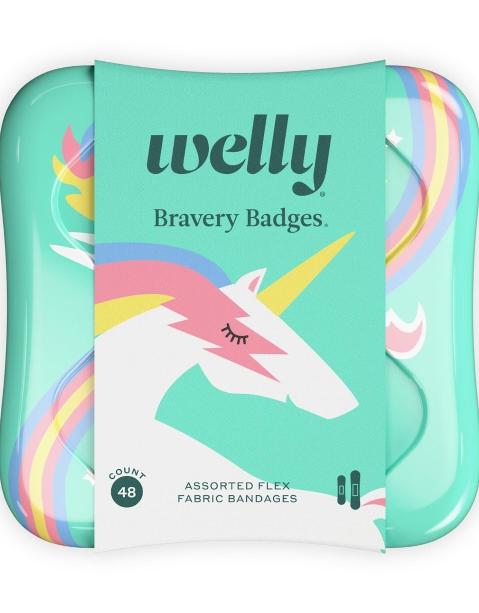 Welly Welly   Bravery Badges - Unicorns