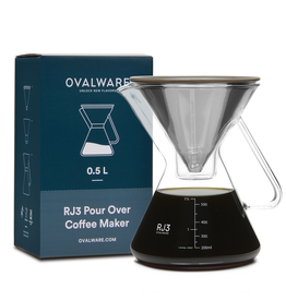 Ovalware Ovalware   Pour Over Coffee Maker with Filter