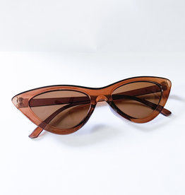 Morgan Sunglasses (Brown) w/ velvet pouch