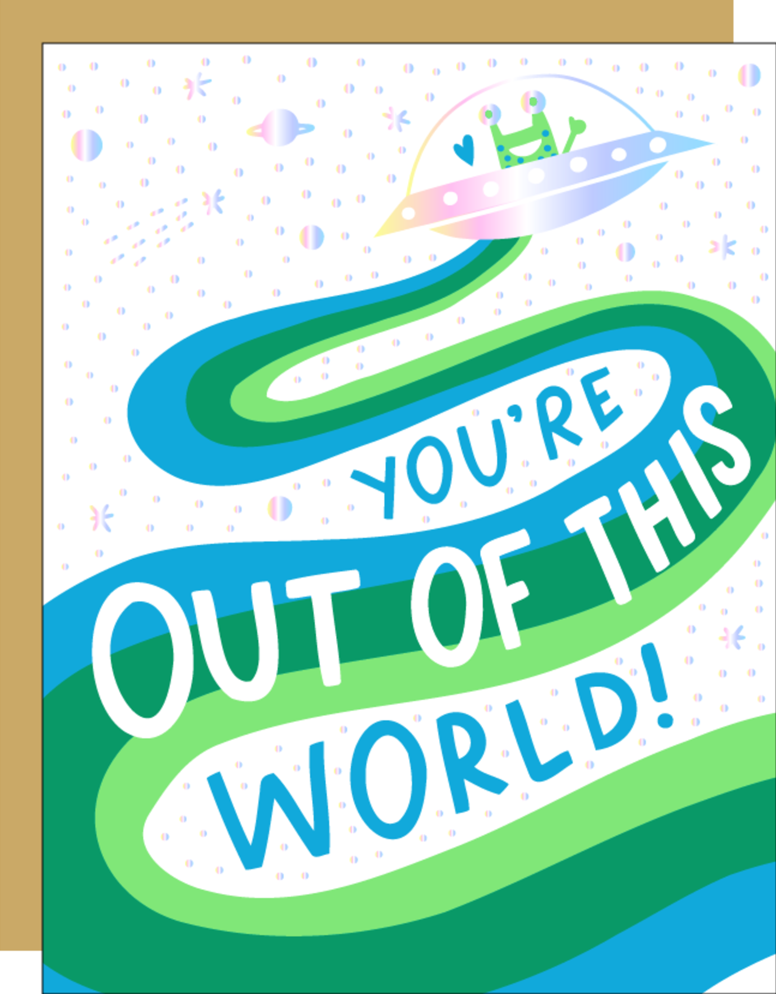 Egg Press Hello! Lucky | Out Of This World Card