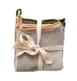 "10.5"" Square Cotton Knit Dish Cloth (Set of 2)"
