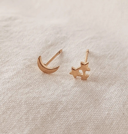 Mimi & August Moon & Star Stud Earrings