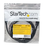 StarTech 6 ft Black SuperSpeed USB 3.0 Extension Cable A to A - M/F