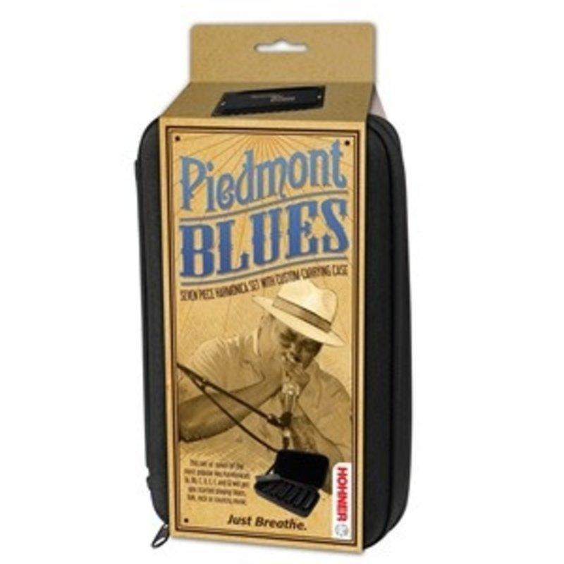 Piedmont Blues- Set Of 7 Harmonicas W/ Case