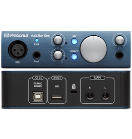 Presonus AUDIOBOX-IONE - Mic & Inst. USB Audio Interface - Mac/ Pc/ iOs