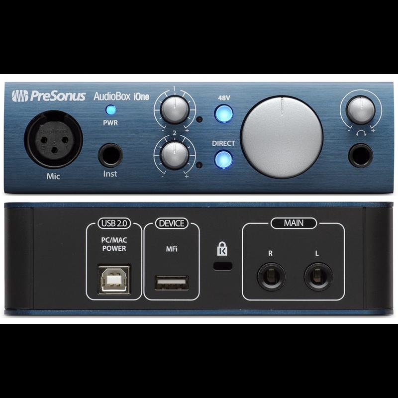 Mic & Inst. USB Audio Interface - Mac/ Pc/ iOs