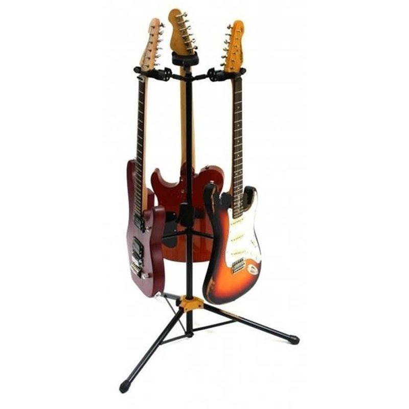 Auto Grip Triple Guitar Stand
