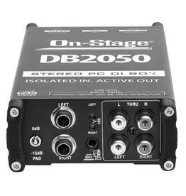 On-Stage Stands DB2050 Stereo Active media DI Direct Box