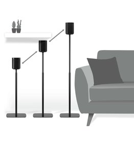 Flexson Adjustable Floor Stands for SONOS One and SONOS Play:1 (Pr)
