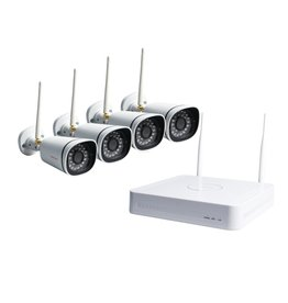 Foscam WiFi Security Camera Kit with 4CH NVR and 4 WIFI 720p Cameras