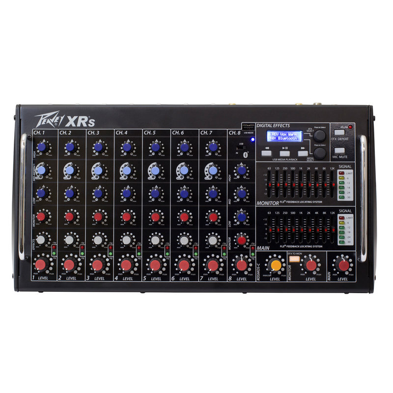 8Ch Powered Box Mixer Stereo 2x1000w @ 4ohms w/Dfx