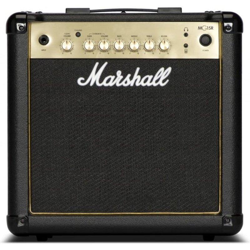 Mashall MG 15w 2-Channel Solid-State Combo Amplifier with Reverb & MP3 Input
