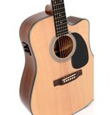 Sigma Guitars Sigma Solid Sitka Spruce Elec/ Acoustic Guitar w/ Fishman