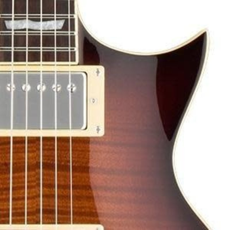 LTD Electric Guitar Dark Brown Sunburst