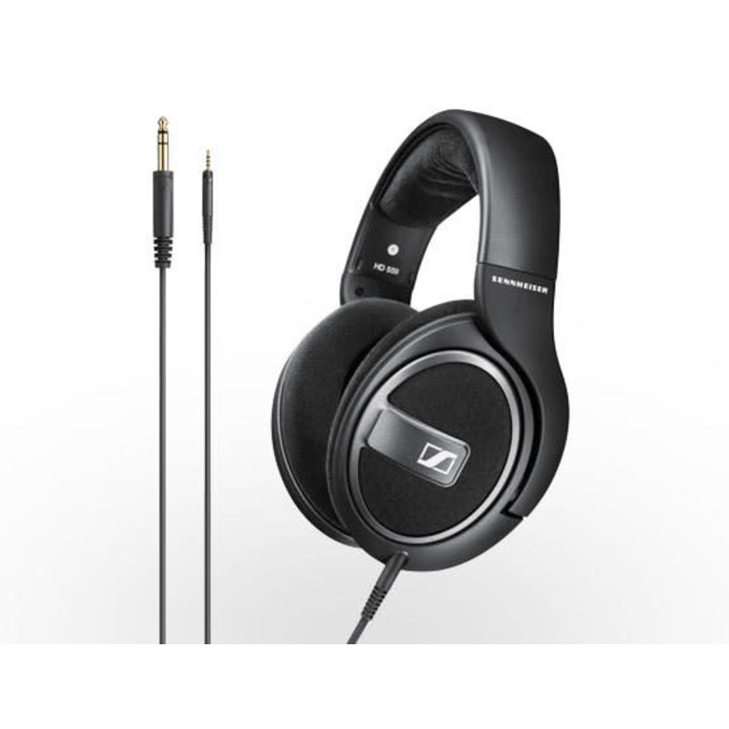 Open around ear headphones with detachable cable