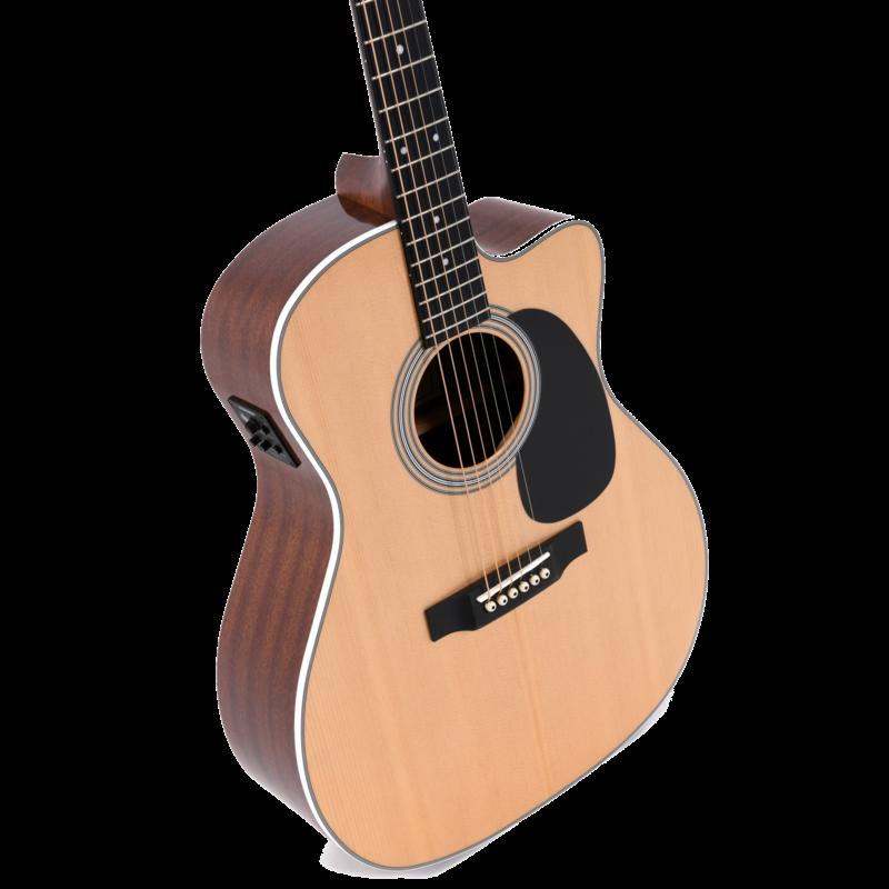 Sigma Jumbo Solid Sitka Spruce Elec/ Acoustic w/ Fishman