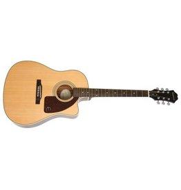 Epiphone Ltd Elec/Acoustic Guitar w/Hardcase - AJ210CE Sunburst
