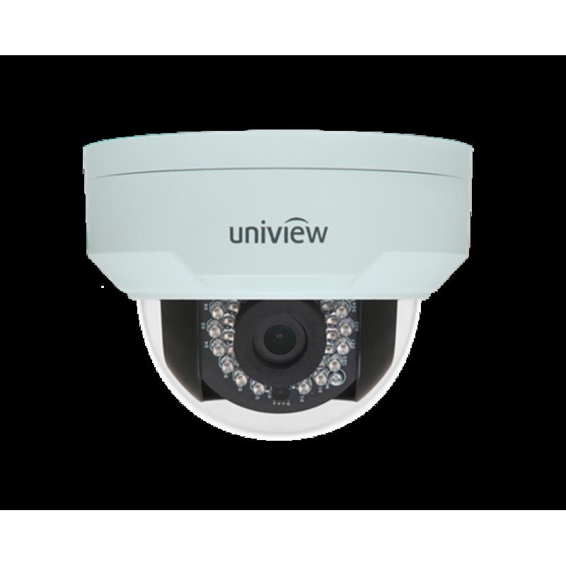 Vandal Resistant IP Network Dome Camera, PoE, IR, 4MP, 2.8