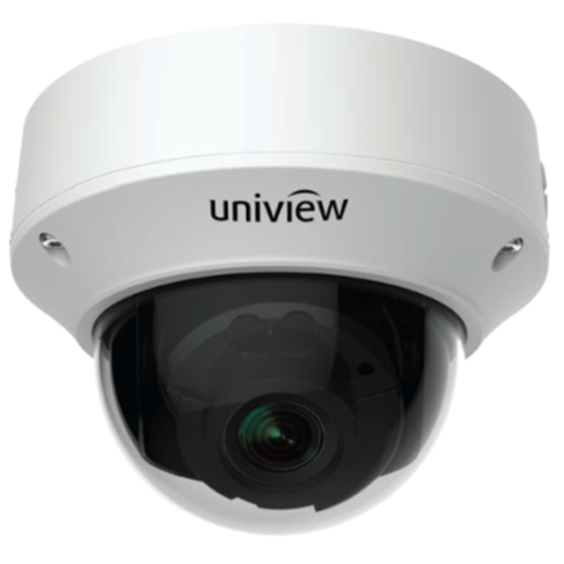 Vandal Resistant IP Network Dome Camera, PoE, IR, 5MP 2190P, 2.7-13.5mm