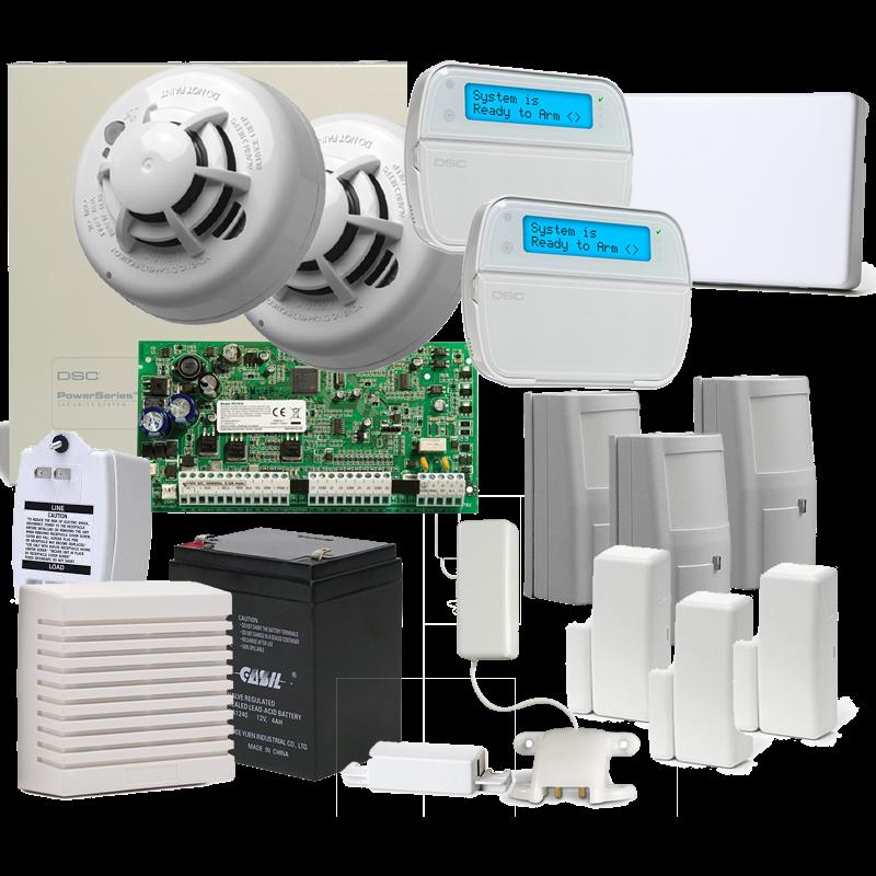SM-HOME+ DSC PowerSeries 10 Sensor Hybrid Alarm System with Internet reporting