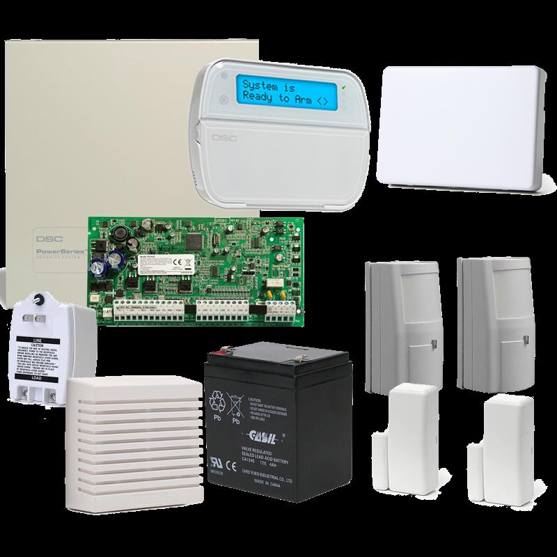 SM-INTRUDER DSC PowerSeries 4 Sensor Hybrid Alarm System with Internet reporting
