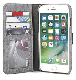 Uolo Folio Slim wallet case, iPhone 8/7/6s/6,Grey