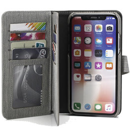 Uolo Folio Wallet Case, iPhone XS/X, Grey
