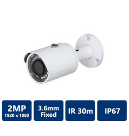 Dahua 2MP 1080P IR HDCVI Bullet Camera 3.6mm lens