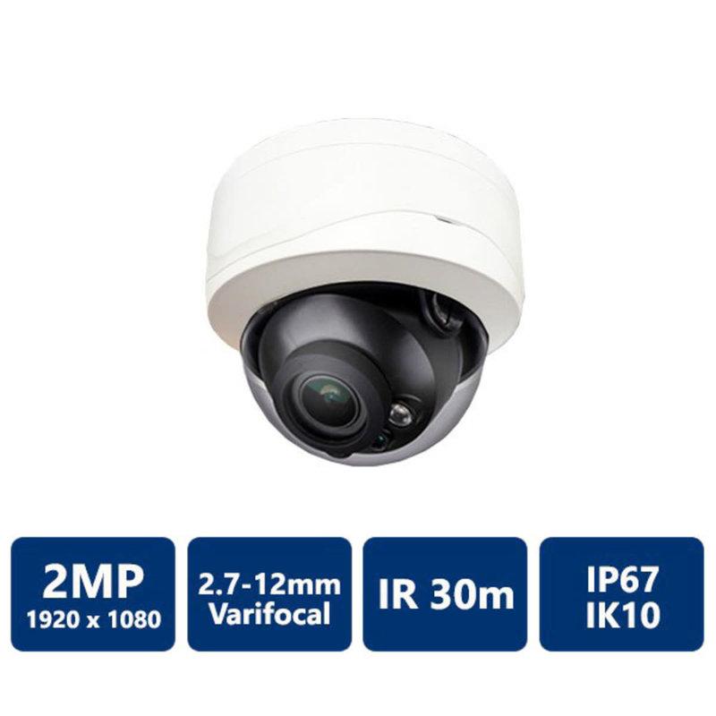 2MP 1080P Vandal-proof IR HDCVI Dome Camera VF 2.7-12mm lens