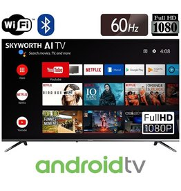 Skyworth 40'' E20 Smart Android HDTV Bezel-less Full Screen Design