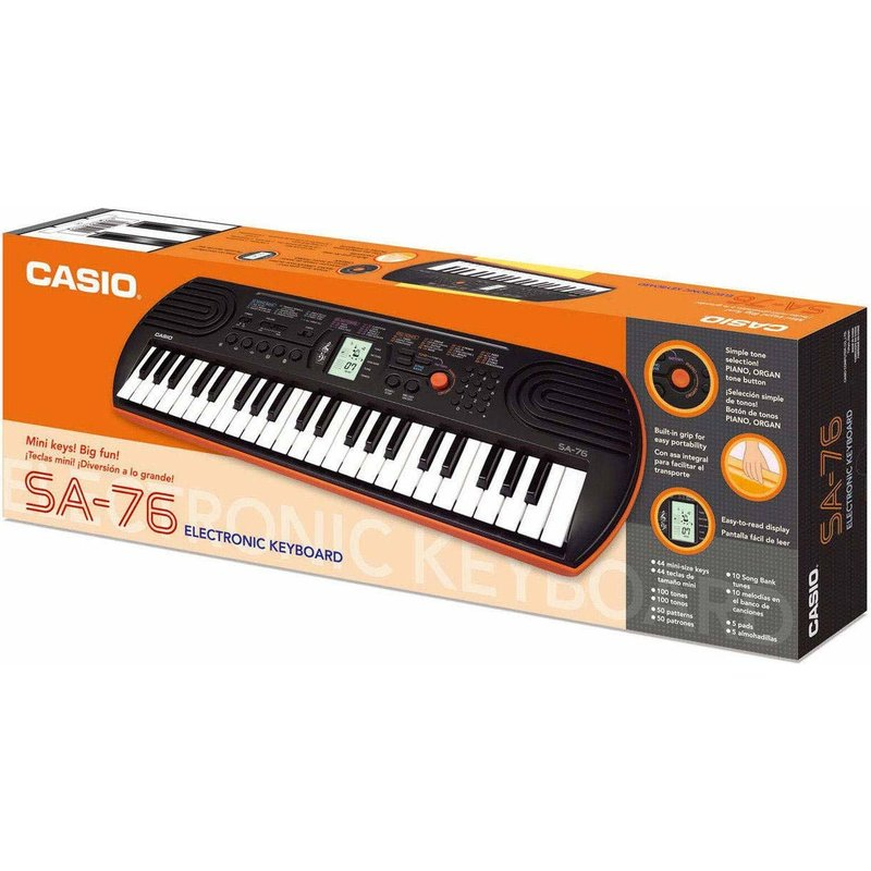 44-note electric keyboard w/ 5 drum pads