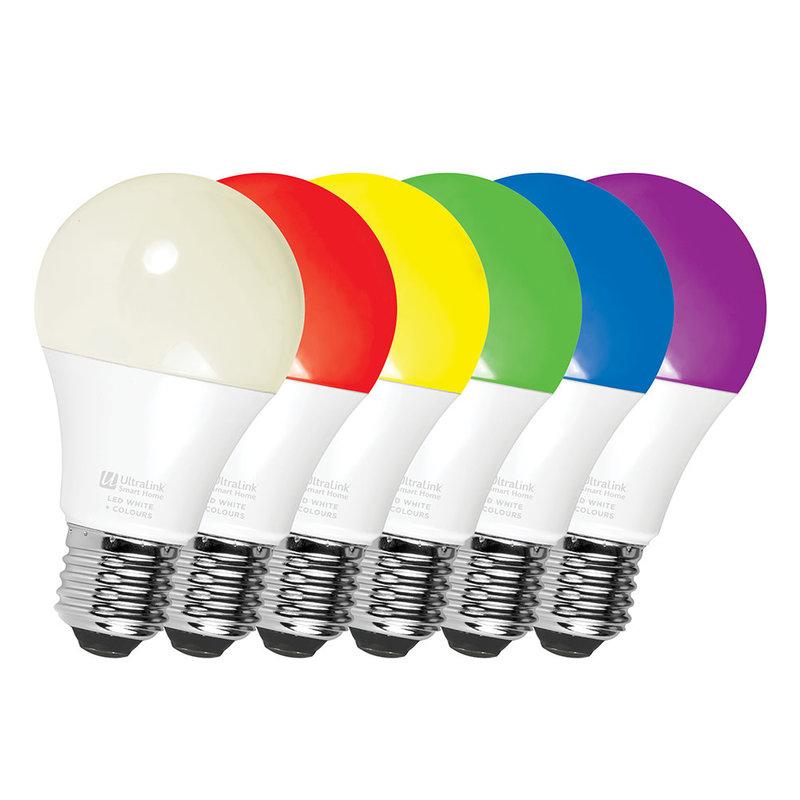 3 Pack - Smart WiFi RGB+CCT / Light Bulb LED White+Colour (A19 Bulb)