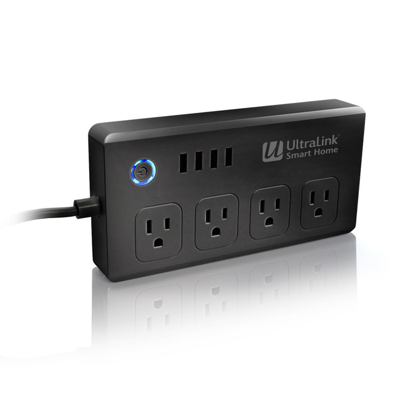 Smart WiFi Surge Protector 4-outlet - Black