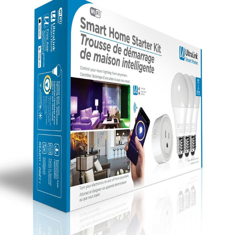 Starter Kit - 3 Smart WiFi RGB+CCT / Light Bulb LED White/Colour & 1 Wifi Plug