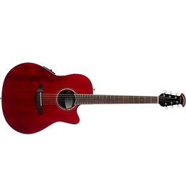 Ovation CS28-RR - Celebrity Standard Super Shallow Acoustic-Electric Guitar, Ruby Red