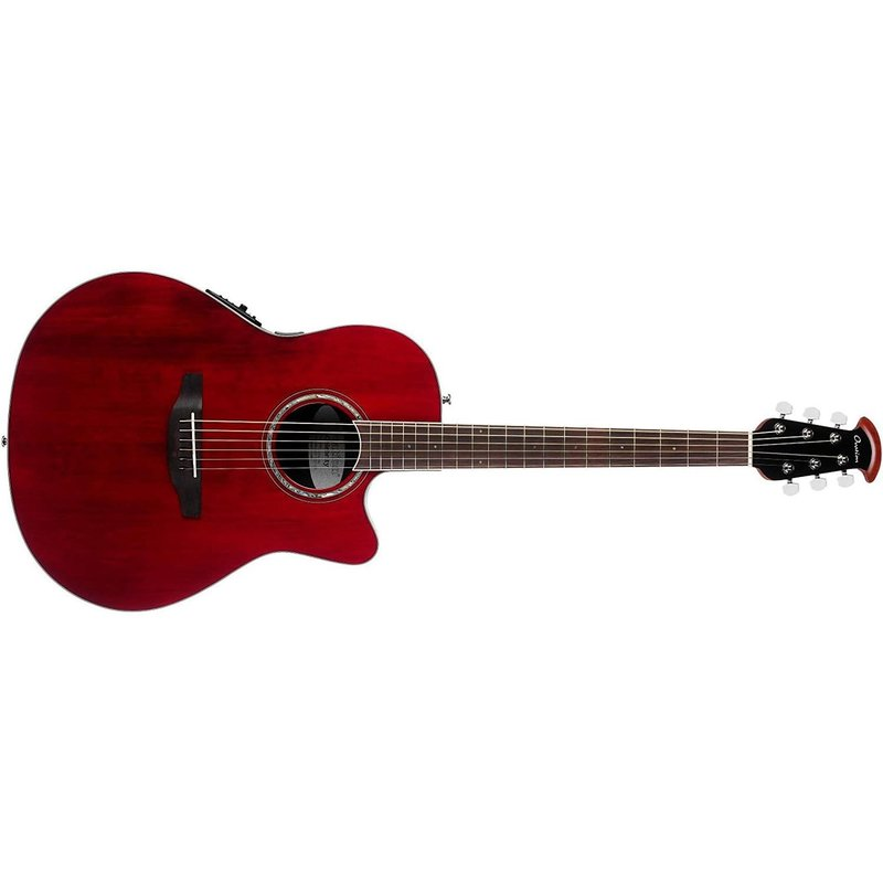 Celebrity Standard Super Shallow Acoustic-Electric Guitar, Ruby Red