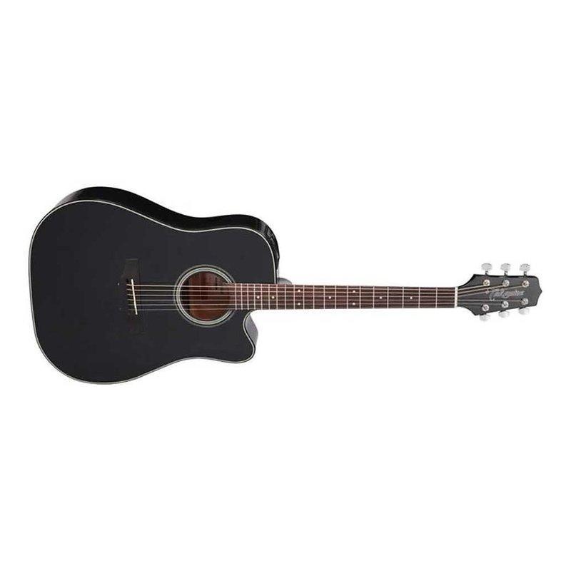 Dreadnought Cutaway Acoustic-Electric Guitar, Black