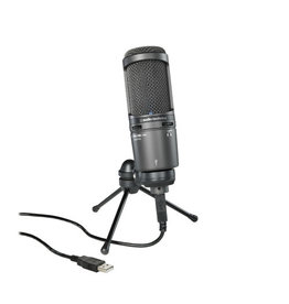 Audio-Technica AT2020USB+ Lg Diaph Card Conds USB Mic