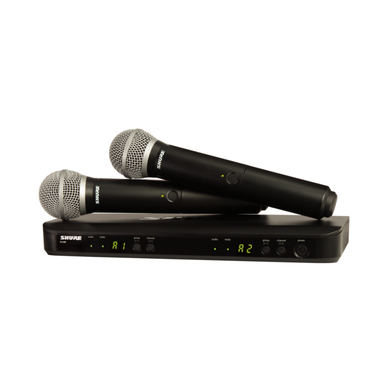 Wireless Dual Vocal System with two PG58 Handheld Transmitters