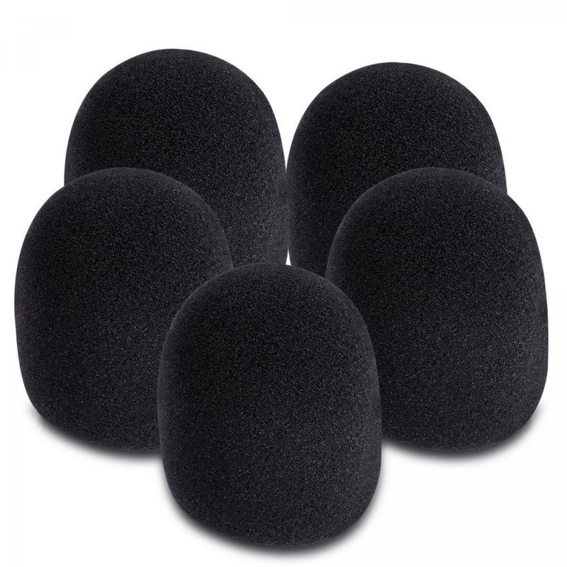 Microphone Windscreens 5pk Black
