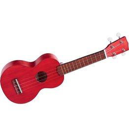 Mahalo MK1-TRD - Soprano Ukulele w/ Bag - Trans Red