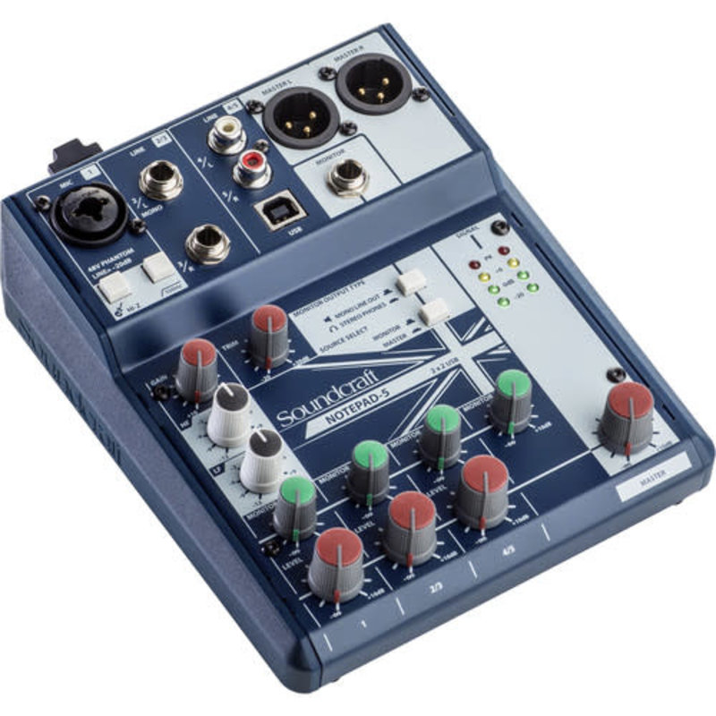 Small-Format Analog Mixing Console With Usb I/O