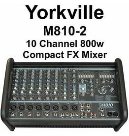 Yorkville M810-2 10Ch Powered Mixer Stereo w/FX