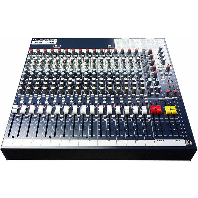 16-Channel Mixer With Lexicon Effects Processor
